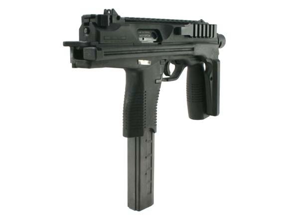 近代対テロウェポンに不可欠な20mmレイルを上・右面に標準装備。アルミ製で精密かつ軽量です
