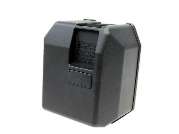 リザーブタンクから給弾部までBB弾を移動する機能により、大容量ながら非常にコンパクト。伏せ撃ちもラクラクです!
