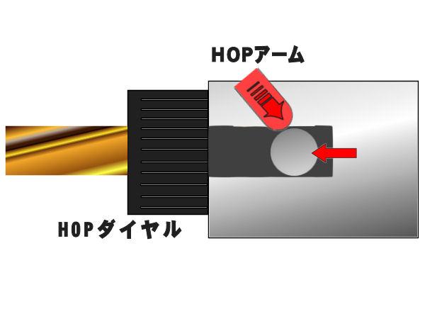 ストライクチャンバーではHOPアームを絶妙にずらして微調整をかけれることに成功!前方より細やかに押さえつけることにより、どれだけ発射してもアームがずれる事が無くなりました!