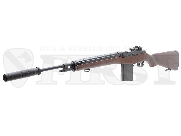 マルイ U.S.ライフル M14 ウッドストックバージョン 電動ガン サプレッサー付モデル