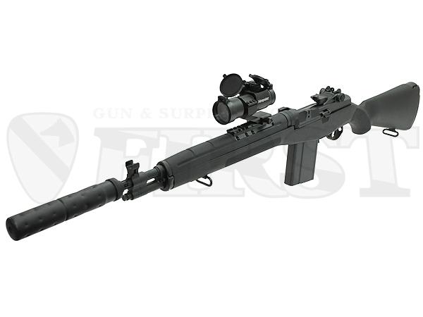 マルイ M14 SOCOM C.Q.B.ライフル .308 電動ガン サプレッサー&ドットサイト レンズカバー付モデル