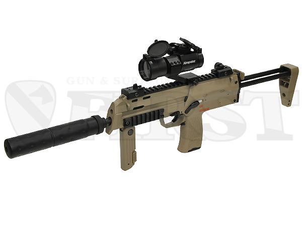 マルイ 電動コンパクトマシンガン MP7A1 TAN サプレッサー&ドットサイト レンズカバー付モデル