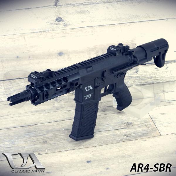CA-049 AR4-SBR BK 電動ガン 電子トリガーシステム搭載