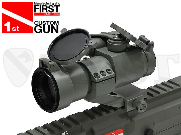 【一品堂】FIRST オリジナル COMP M2タイプ ドットサイト レンズカバー付 FG塗装