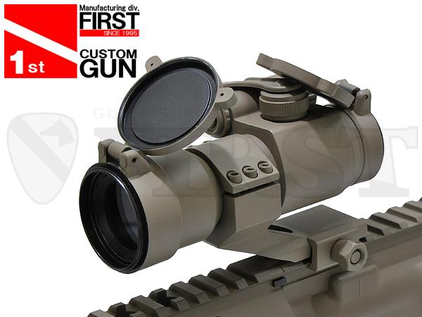 【一品堂】FIRST オリジナル COMP M2タイプ ドットサイト レンズカバー付 FDE塗装