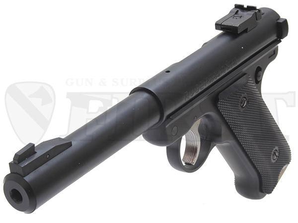 【再販予約】6mm固定ガスガン スタームルガーMkI ブルバレル BK ABS