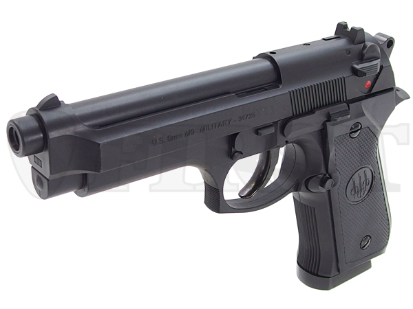 固定ガスガン U.S.9mm M9ミリタリー BK