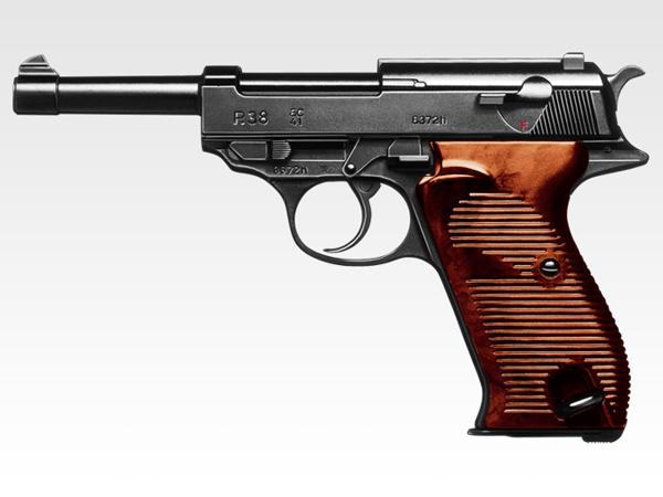 東京マルイ エアーハンドガン(10才用モデル) ワルサーP38 ルパン三世の愛銃として有名! ホップアップシステム搭載エアガン