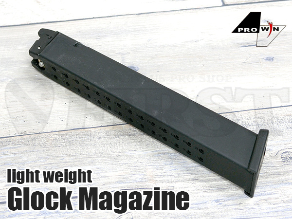 【サバゲ応援SALE】ProWin 東京マルイGlock用 アルミマガジン 52連