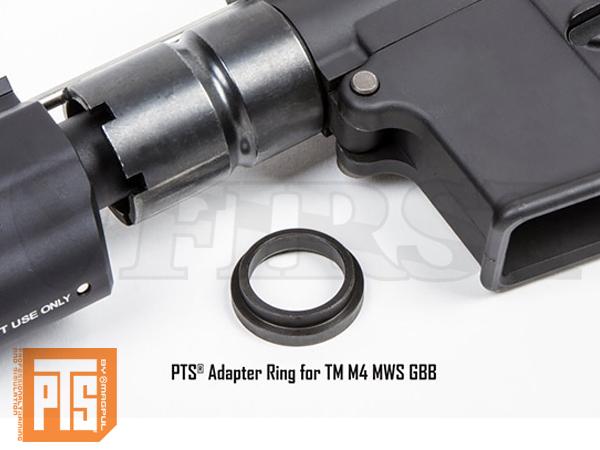 PTS アダプターリング for 東京マルイ M4MWS GBB
