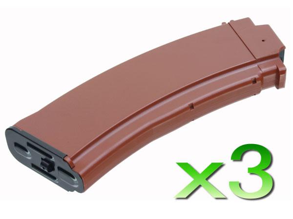 【次世代電動ガン】AK74用 480連 ベークライト 3本セット