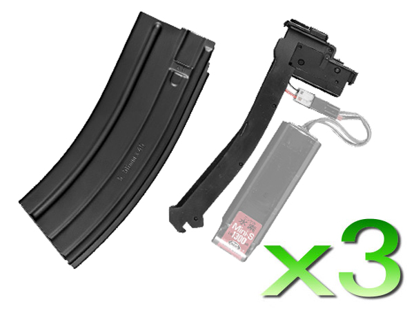 マルイ HK416C専用 バッテリー格納式マガジン 3本セット