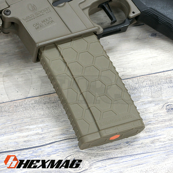 HEXMAG Airsoft AEG 120連 HEXマガジン FDE
