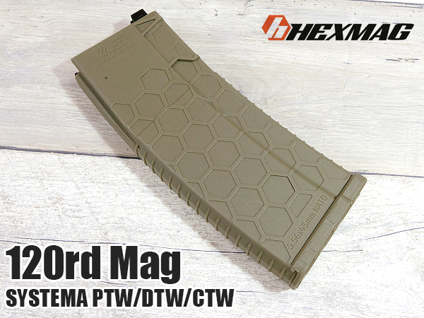 HEXMAG Airsoft SYSTEMA PTW 120連 HEXマガジン FDE