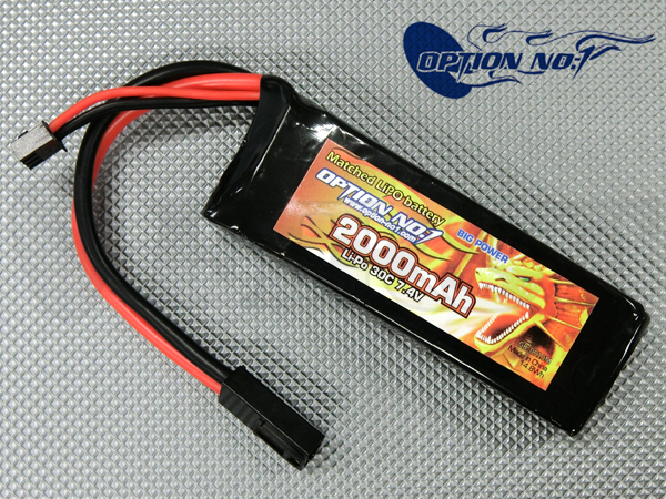 GB-0010M ビッグパワー マッチドLiPo 7.4V 2000mAh