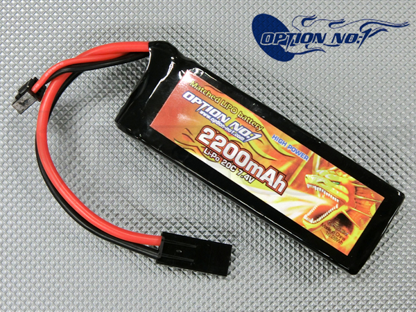 GB-0012M ハイパワー マッチドLipo 7.4V 2200mAh
