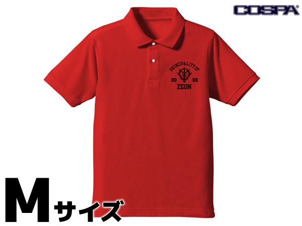COSPA 機動戦士ガンダム ジオン ポロシャツ RED Mサイズ