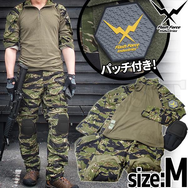 【限定送料無料】FFI タイガーストライプ Gen3 コンバットシャツ&パンツ M with Knee Pads BK