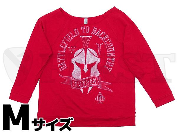 【アウトレット特価】KRYPTEK テリーローエッジTシャツ Mサイズ(レディース)
