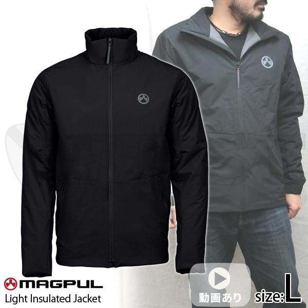 ライトインスレイテッドジャケット ブラック Lサイズ