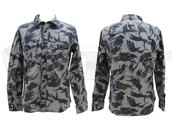 【アウトレット特価】7145003 CAMOHA コットンシャツ 14グレー L