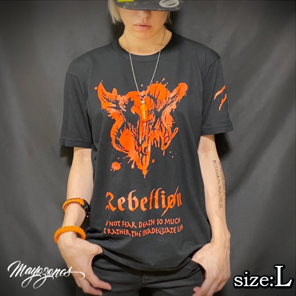 【MAYOZONES】Rebellion T-shirt ブラック Lサイズ