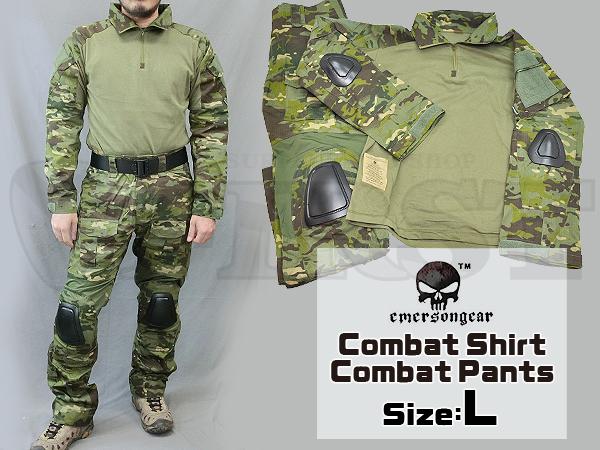 【カラーSALE特価】CRYEタイプ GEN2 コンバットシャツ&パンツ 上下セット マルチカムトロピック Lサイズ