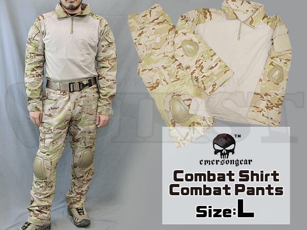 【カラーSALE特価】CRYEタイプ GEN2 コンバットシャツ&パンツ 上下セット マルチカムアライド Lサイズ