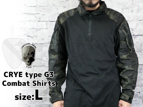 TMC CRYEタイプ G3 コンバットシャツ マルチカムブラック Lサイズ