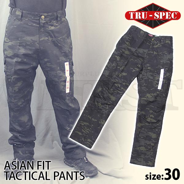 アジアンフィット タクティカルパンツ MULTICAM BLACK 30インチ