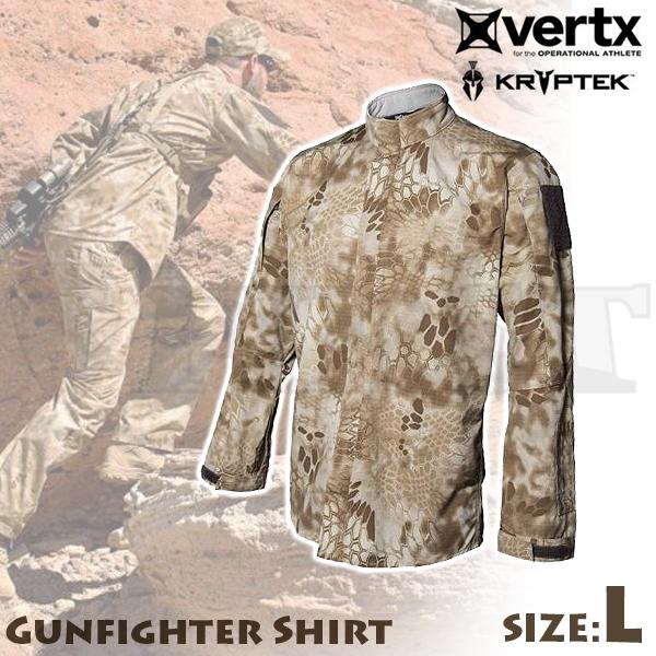 【アウトレット特価】Vertx Kryptek ガンファイターシャツ ノマド Lサイズ