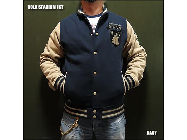 STADIUM ジャケット NAVY Mサイズ