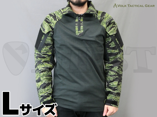 VOLK オリジナル タイガーカモ シャツ SILVER TIGER Lサイズ