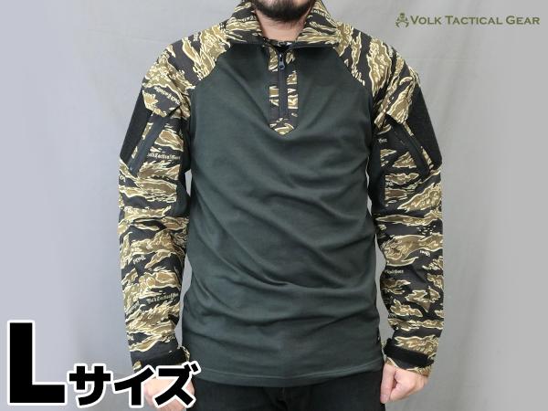 VOLK オリジナル タイガーカモ シャツ BROWN TIGER Lサイズ