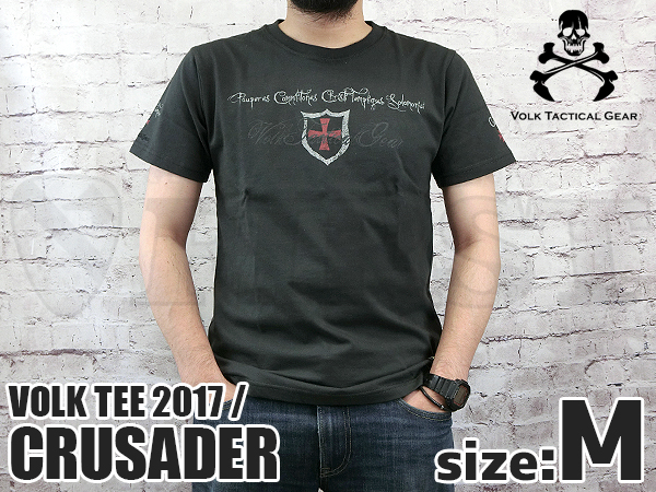 VOLK TEE 2017 CRUSADER CHARCOAL BLACK Mサイズ