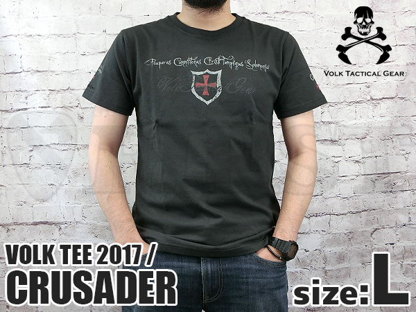 VOLK TEE 2017 CRUSADER CHARCOAL BLACK Lサイズ
