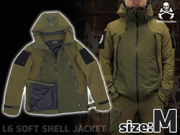 VOLK L6 ソフトシェルジャケット OD GREEN Mサイズ