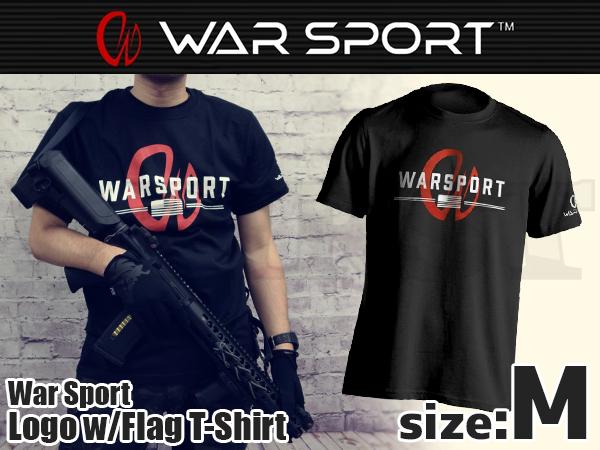 WAR SPORT ロゴ W/FLAG Tシャツ Mサイズ