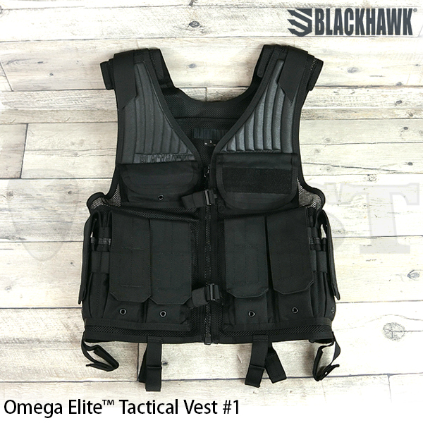 【BlackHawk】OMEGA ELITE TAC VST #1 BLACK