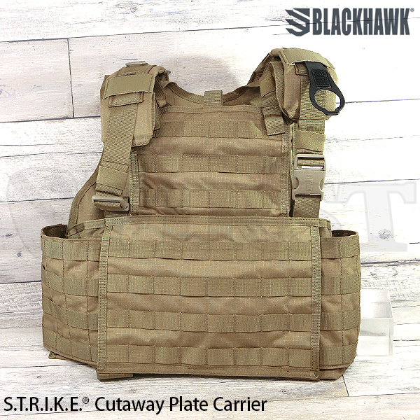 【BlackHawk】STRIKE CUTAWAY PLATE CARRIER C/TAN