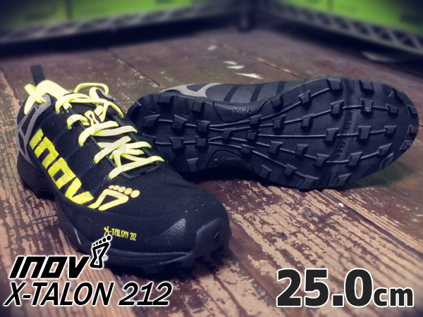 inov-8 X-TALON 212 MS Black/ Neon yellow/ Grey 25.0cm