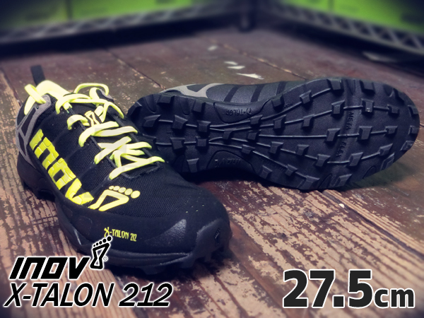 inov-8 X-TALON 212 MS Black/ Neon yellow/ Grey 27.5cm