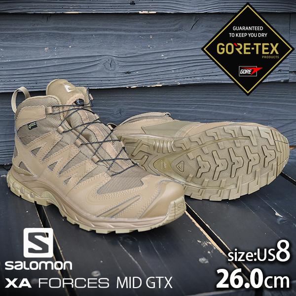 XAフォース ミッドカット GTX コヨーテ US8(26.0cmサイズ)