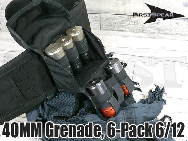 40mm グレネードポーチ 6-Pack 6/12 BK