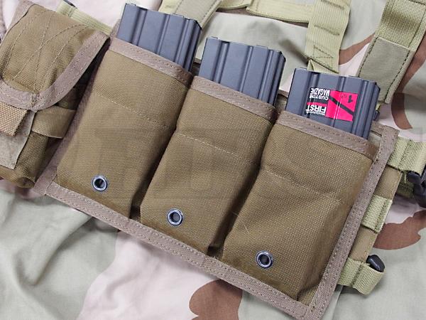 【アウトレット特価】FY-PH-M005-CB RAV M4/M16 トリプルマガジンポーチ CB