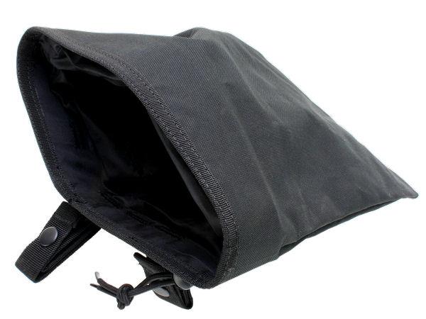 ダンプポーチ BK  実物サイズの大型ダンプバッグ!ベルト、MOLLEに対応。ブラックカラー