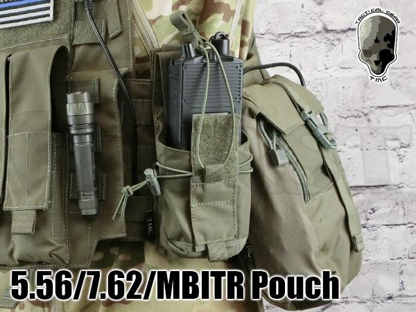 【サバゲ応援SALE】TMC2323-RG 5.56 7.62 MBITR ポーチ RG