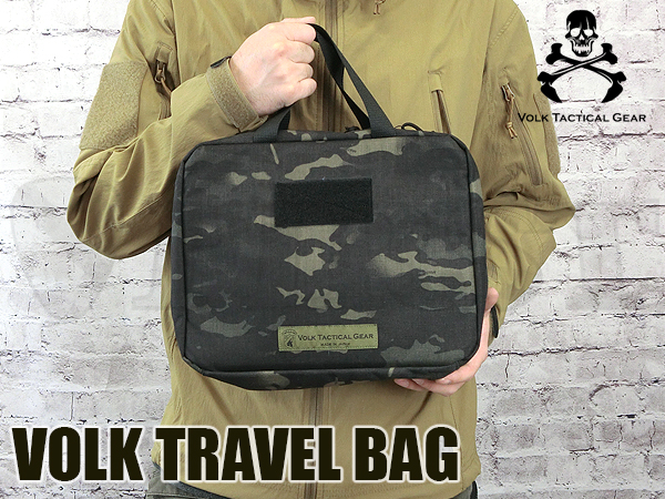 VOLK TRAVEL BAG MULTICAM BLACK
