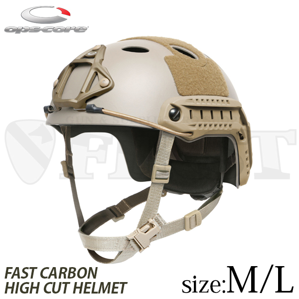OPS-CORE FAST CARBON HIGH CUT HELMET M/L UT【1~3営業日以内に発送】