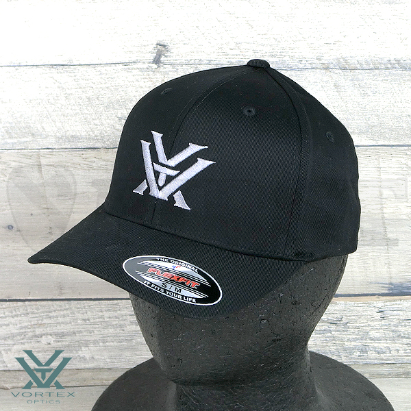 【VORTEX】Hats Black Flex Fit Grey Logo S / M